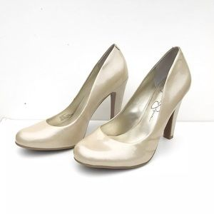 Jessica Simpson Champagne Patent Leather Heels